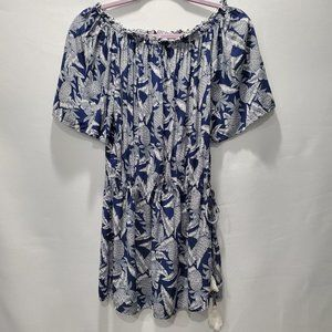 Spiaggia Dolce Blue White Pineapple Print Top P138